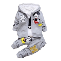 Newborn Baby Boys Girls Clothing Set Kids Spring Autumn Long Sleeve Cartoon Hoodies T-shirt Pants 3pcs Outfits Child Tracksuit