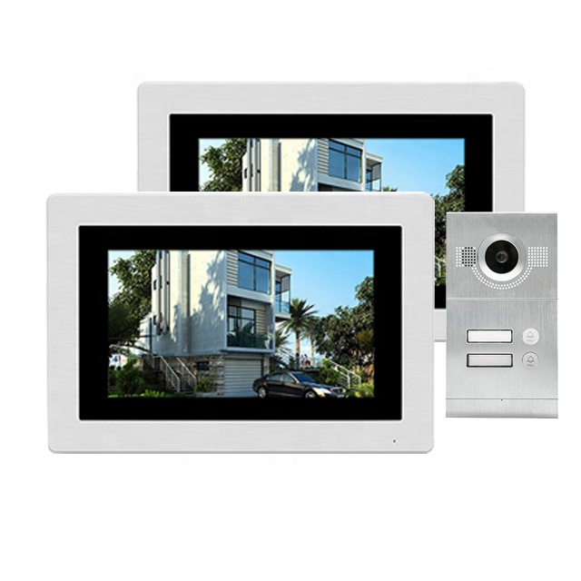 Hot multifunctionele 7 inch IPS touch monitor CAT5 CAT6 netwerk kabel sluit video intercom systeem voor multi appartement