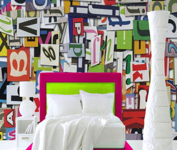 Coloré 3d Lettre Personnalisé Papier Peint Pour Bébé Chambre Décor Buy Papier Peint Pour Bébé Chambre Décor 3d Lettre Papier Peint