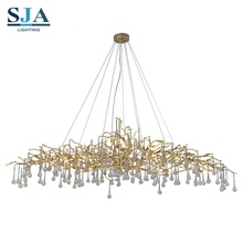 Postmodern hanging lights glass arms of chandeliers glass copper for lighting