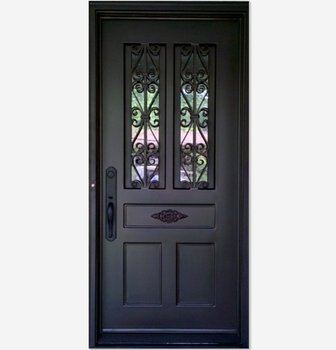 Residential Wrought Iron Single Entry Doors Buy Single Iron Entry Doorwrought Iron Single Doorsresidential Wrought Iron Door Product On