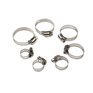 Urlwall Mulit-Size Stainless Steel Hoop Clamp Hose Clamp 8mm-38mm Set Automotive Pipes Clip Fixed Tool Kit