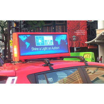 3G 4G WiFi taxi roof led display/led screen car advertising/Digital Taxi Top Advertising sign
