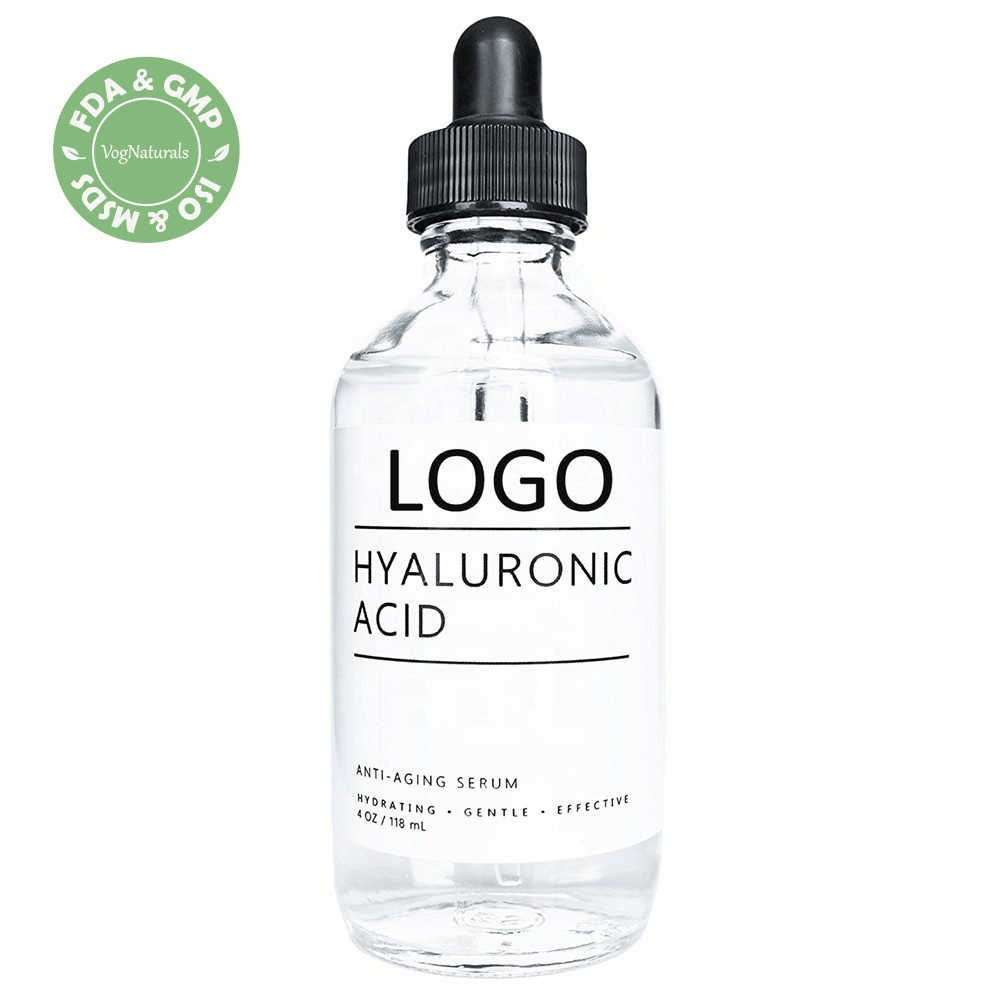 Private Label 100% Puro Naturale Organico Siero di Acido Ialuronico