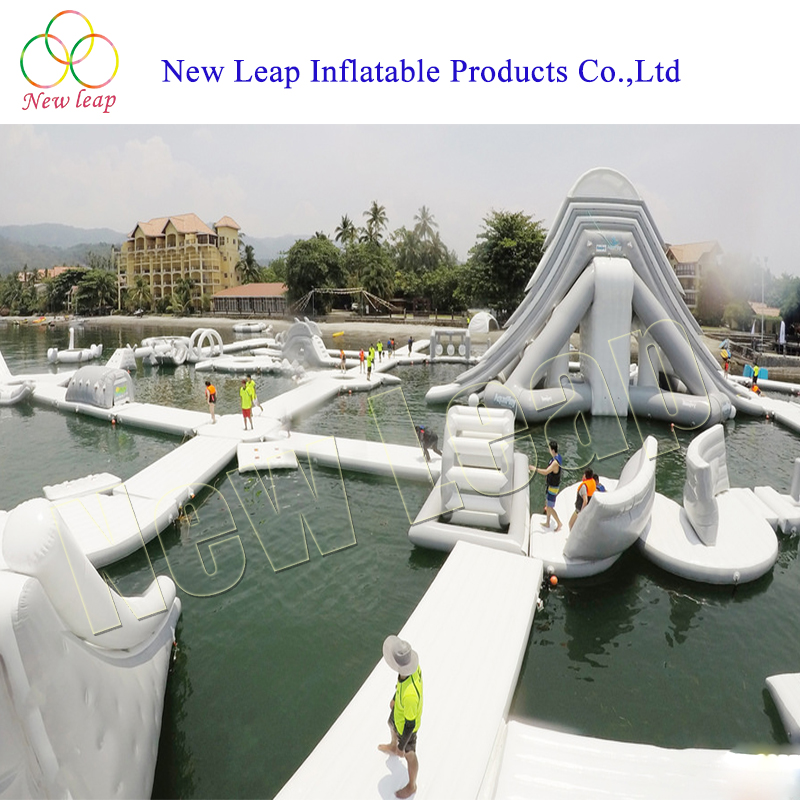giant inflatable water park