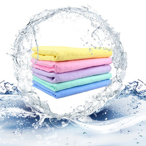 Wholesale reusable PVA chamois cleaning drying cloth towel for car washing