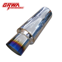 GRWA Sport Racing Silencer Car exhaust muffler for hks