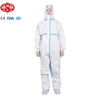 Microporous Safety chemical protective suit Disposable Coverall Disposable Nonwoven Coverall