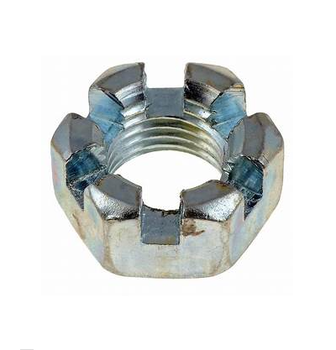 DIN979 metric titanium hex slotted castle nut for construction locking fastener manufacturer