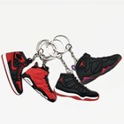 2D 3D Mini Yeezy Air Jordan Basketball Running Sneaker Shoes Keyring For Nike