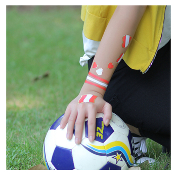 Temporary Flag Tattoo Face Body Waterproof Temporary Body Tattoo for Football Soccer Fans Watching Football Sports
