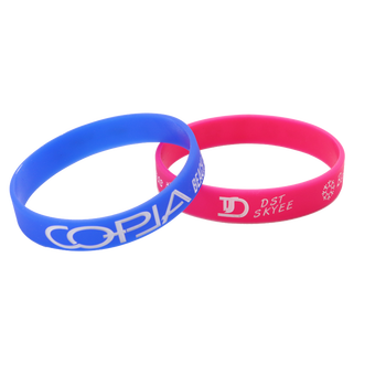 custom printing silicone bracelet for gym motivational