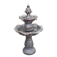 China supplier outdoor decoration fiber resin garden water fountain for home used