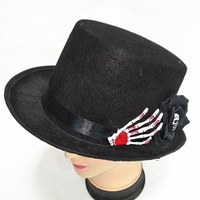 new products black party top hat halloween party fancy dress accessories