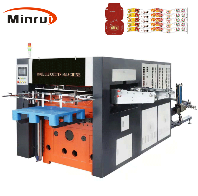 MR-950 platen pressing paper cup box carton die cutting creasing machine for corrugated cardboard cutter China manufacturer