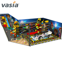 kids indoor space theme jungle playground plastic indoor equipment