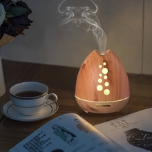 Amazon top verkoper 400 ml houten base elektronische diffuser cool mist aroma <span class=keywords><strong>olie</strong></span> diffuser, luchtbevochtiger voor essentiële <span class=keywords><strong>olie</strong></span>