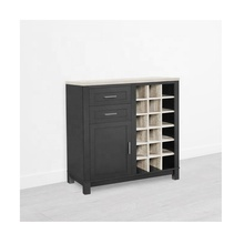 Luxe black Home whiskey wijn kast <span class=keywords><strong>bar</strong></span> wijn opslag moderne display wijn kast met 2 laden 1 <span class=keywords><strong>deur</strong></span> 18 flessen
