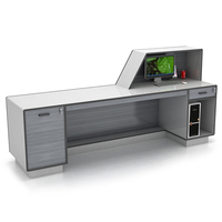Best Sell Modern Design Gray Office Table Front Counter Reception Desk