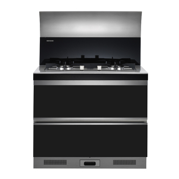 Supply high quality integrated cooker with downdraft range hood
