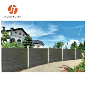 Waterproof home fence easy DIY installation WPC wood composite Cheap Garden  Fencing