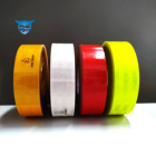 Low price 3M safety warning ece 104r reflective tape strip vinyl roll sticker with adhesive stick on truck trailer vehicle