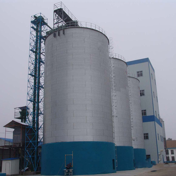 Shandong large capacity flat bottom grain storage silos for sale