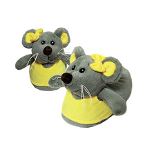 6b728f820 Add to Favorites. Winter indoor soft animal plush mouse slippers for kids