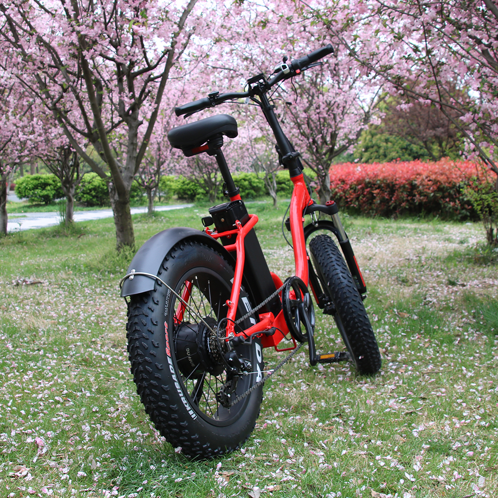 Hot Sale 48v 750w Electric <strong>Folding</strong> 20&quot; Fat Tire Electric Bike for sale