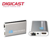 Full HD 4K @ 30fps UHD H.265/HEVC Cavo Encoder TV 4 K IPTV Encoder <span class=keywords><strong>Video</strong></span> <span class=keywords><strong>Dispositivo</strong></span> di <span class=keywords><strong>Streaming</strong></span>