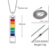 High polished stainless steel LGBT gays pride rainbow bar necklace