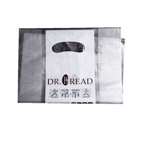 custom bread plastic polybag with QR code for cake store