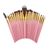 Cosmetics And Makeup Factory 20Pcs plastic Handle Private Label Makeup Brush