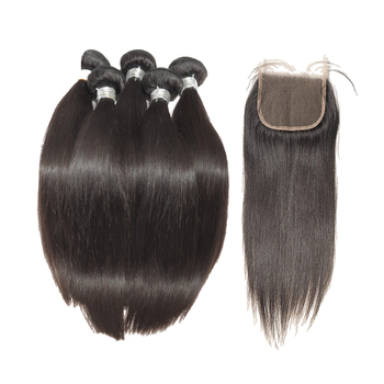 brazilian hair bundles with closure,3 bundles with closure,hd transparent lace closure