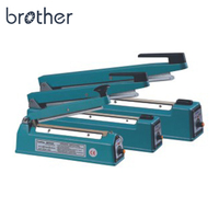 "Brother PCS 200A 8"" 12"" 16"" Aluminum Manual Type Semi Automatic Plastic Film Bag Hand Impulse Heat Sealing Sealer Machine"