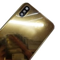 Replacement Luxury Chassis Housing for iphone X Back Cover 24k Mirror Gold