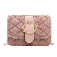 hot sale wholesale fashion popular women's fur designer handbag distributors