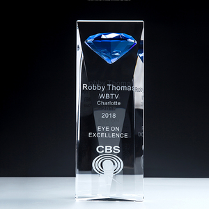Fashion Diamond Crystal Trophy for Appreciation Awards