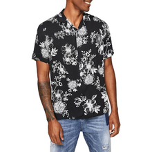 Fabriek Groothandel Custom Made Notched Bloemenprint Button Up <span class=keywords><strong>Shirt</strong></span> Mannen