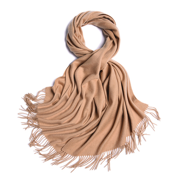 Bright Solid Fringe Fashion Winter Warm Scarf Women Lady Cashmere Shawl