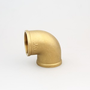 90 Deg Elbow Water Pipe Compression Brass Fitting