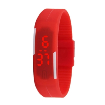 2019 Custom Waterproof Silicon Silicone Band Led Digital Smart Sport Watch