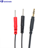 3.5mm audio jack to dual Electrode 2.0mm pin Tens lead wire for TENS unit