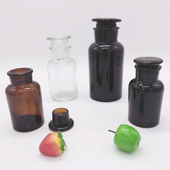 Glass apothecary jar pharmaceutical amber glass reagent bottle 60ml 125ml 250ml 500ml 1000ml