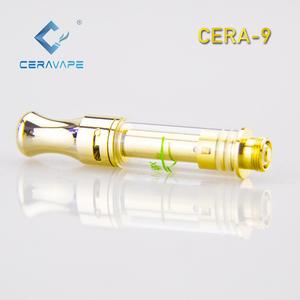 2019 Best selling  5ml vape pen cartridge gold 510 ceramic atomizer CERA-9  with metal tip