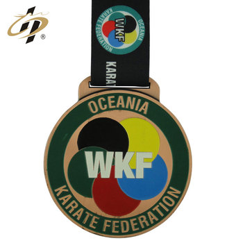 promotional Wholesale finisher  Taekwondo medal port with ribbon