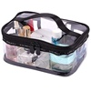 Portable Clear Makeup Zipper Bag Waterproof PVC Travel Storage Pouch Cosmetic Toiletry Bag With Handle