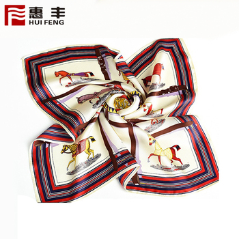 China Manufacturer Promotional Digital Print Silk Luxury Scarf ,Floral Silk Scarf