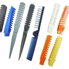 Natural hair straightener cutting comb clips salon bridal wedding hair comb