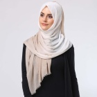 Wholesale Hot Sale Fashion Cotton Gradual Change Colors Muslim Hijab Scarf